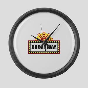 Broadway  Large Wall Clock