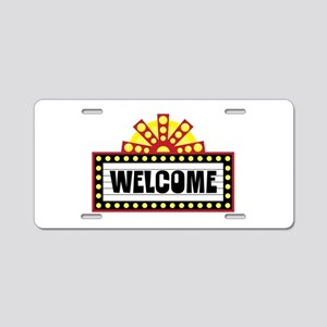 Welcome Sign Aluminum License Plate