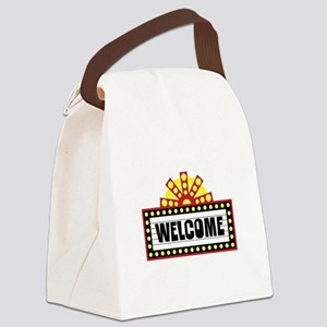 Welcome Sign Canvas Lunch Bag
