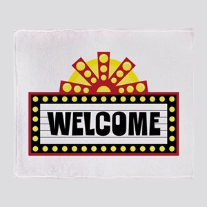 Welcome Sign Throw Blanket