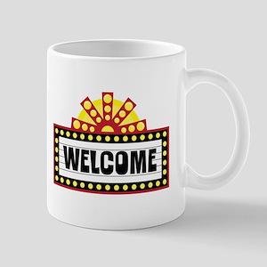 Welcome Sign Mugs