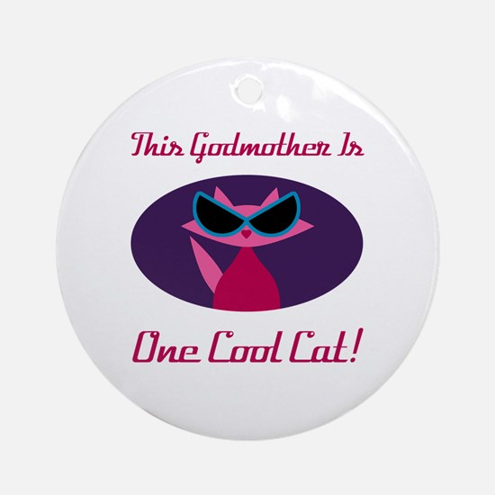 Cute Godmother Round Ornament