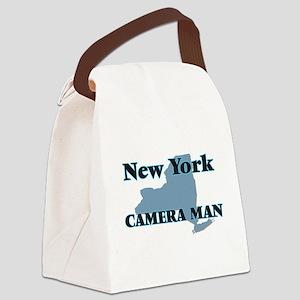New York Camera Man Canvas Lunch Bag