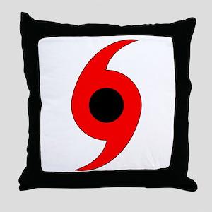 Hurricane Symbol Throw Pillow