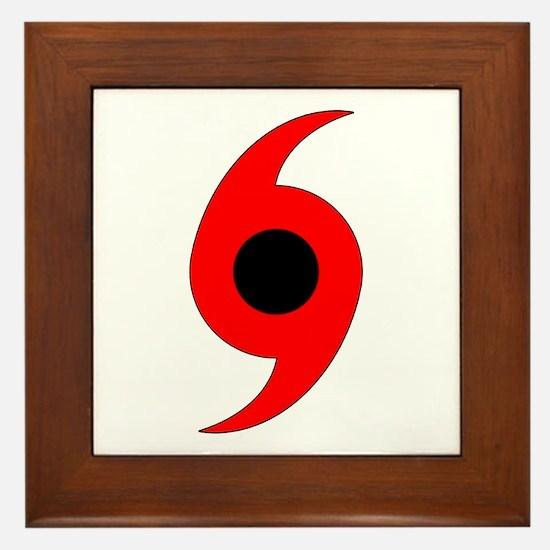 Hurricane Symbol Framed Tile