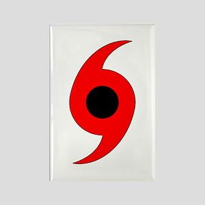 Hurricane Symbol Rectangle Magnet