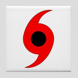 Hurricane Symbol Tile Coaster