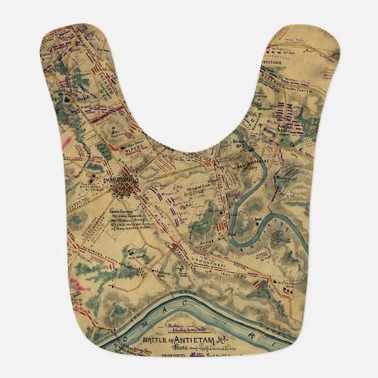 Vintage Antietam Battlefield Map (1862) Bib