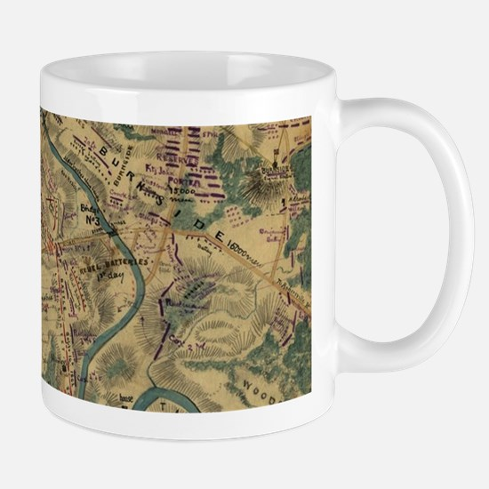 Vintage Antietam Battlefield Map (1862) Mugs