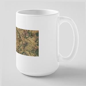 Vintage Antietam Battlefield Map (1862) Mugs