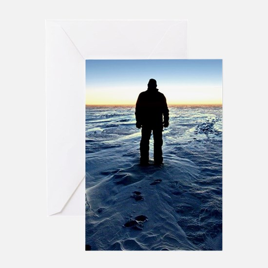 Antarctic Sunset Greeting Cards