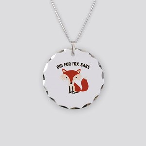 Oh! For Fox Sake Necklace Circle Charm