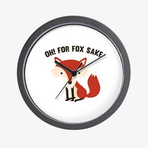 Oh! For Fox Sake Wall Clock