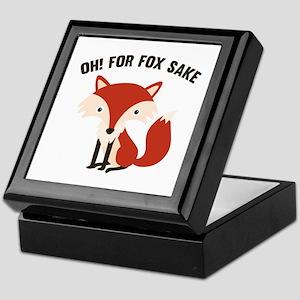 Oh! For Fox Sake Keepsake Box