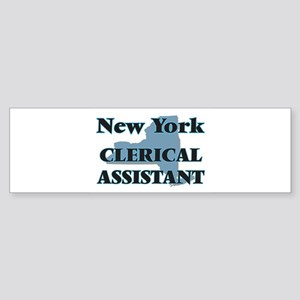 New York Clerical Assistant Bumper Sticker