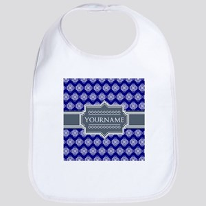 Blue Abstract Celtic Pattern Personalized Bib