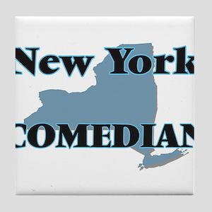New York Comedian Tile Coaster