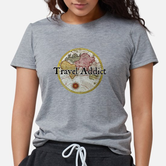 Travel Addict 'Style 2' Black T-Shirt T-Shirt