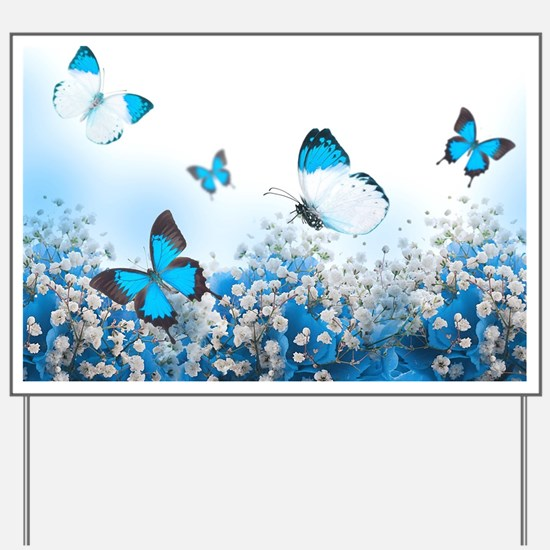 Flowers and Butterflies Yard Sign