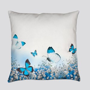 Flowers and Butterflies Everyday Pillow