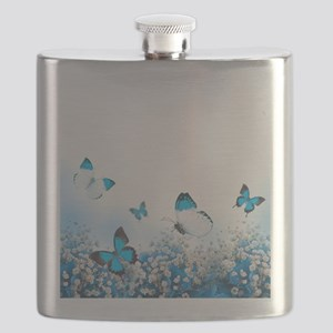 Flowers and Butterflies Flask
