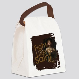 Fight Like a Saint Canvas Lunch Bag
