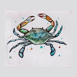 Maryland Blue Crab Throw Blanket