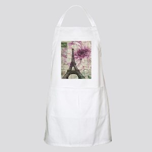 floral vintage paris eiffel tower Apron