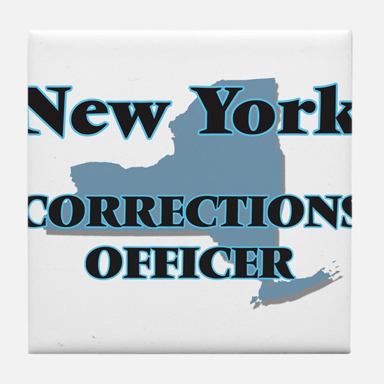 New York Corrections Officer Tile Coaster