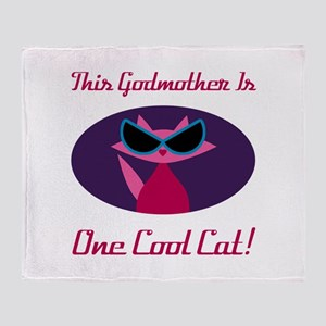 Godmother Cool Cat Throw Blanket