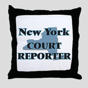 New York Court Reporter Throw Pillow