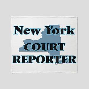 New York Court Reporter Throw Blanket