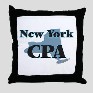 New York Cpa Throw Pillow