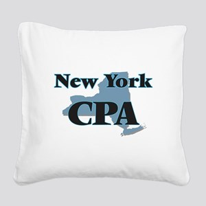 New York Cpa Square Canvas Pillow