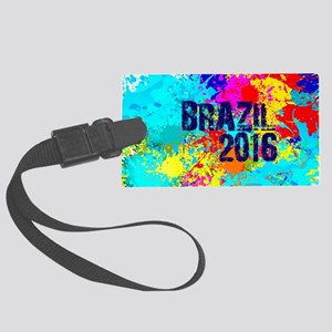 Brazil 2016 Carnival Burst Large Luggage Tag