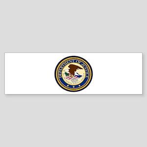GOVERNMENR SEAL - DEPARTMENT OF JUS Bumper Sticker
