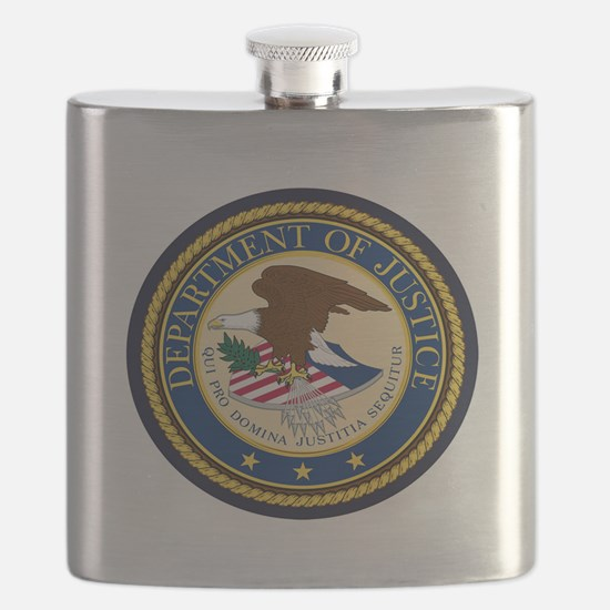 GOVERNMENR SEAL - DEPARTMENT OF JUSTICE! Flask