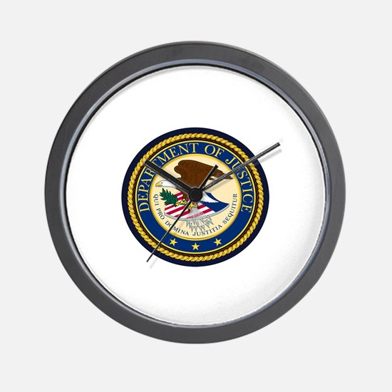 GOVERNMENR SEAL - DEPARTMENT OF JUSTICE Wall Clock