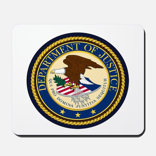 GOVERNMENR SEAL - DEPARTMENT OF JUSTICE! Mousepad