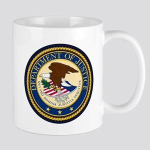 GOVERNMENR SEAL - DEPARTMENT OF JUSTICE! Mugs