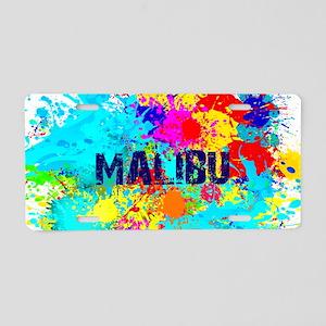 MALIBU BURST Aluminum License Plate