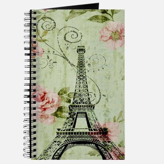 floral vintage paris eiffel tower Journal