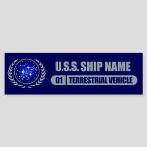 Star Trek Ship Personalized Bumper Sticker