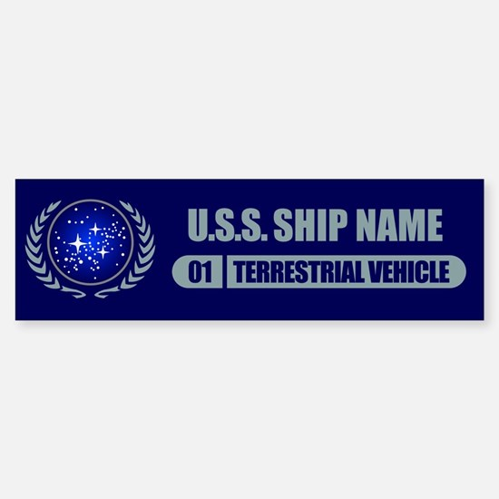 Star Trek Ship Personalized Bumper Car Car Sticker