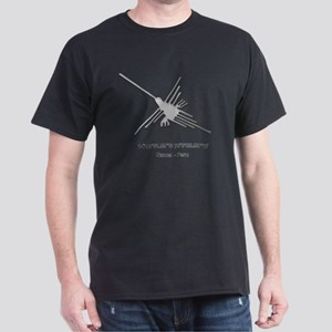Nazca Lines Hummingbird With Coordina Dark T-Shirt