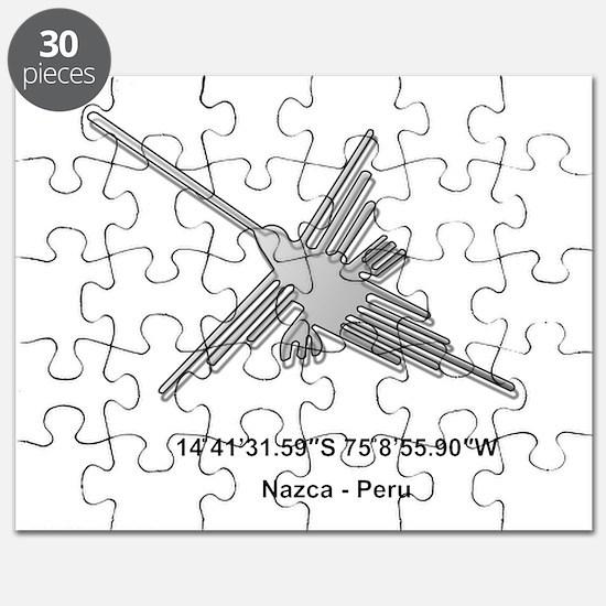 Nazca Lines Hummingbird With Coordinates Puzzle