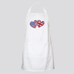 USA and UK Flag Hearts Apron
