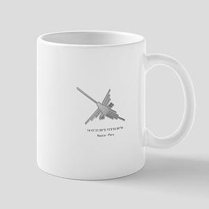 Nazca Lines Hummingbird With Coordinate Mugs