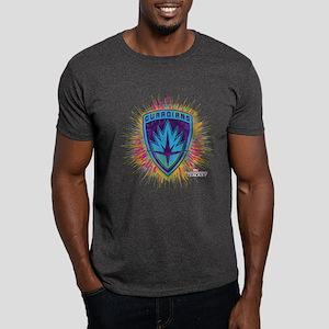 GOTG Logo Neon Splat Dark T-Shirt