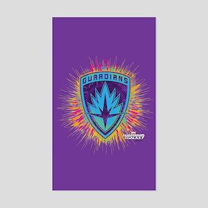 GOTG Logo Neon Splat Sticker (Rectangle)